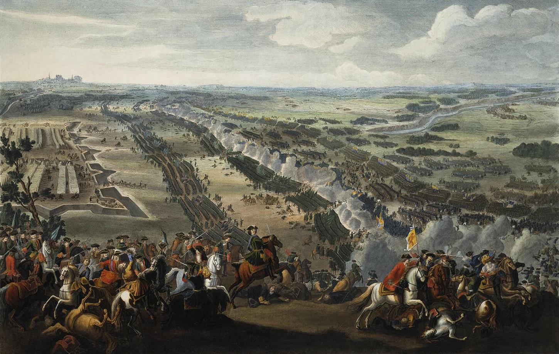 Pultavan taistelu. Denis Martens nuoremman maalaus vuodelta 1726.